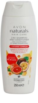 Avon Naturals Hair Care šampon in balzam 2 v1