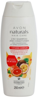 Avon Naturals Hair Care Shampoo und Conditioner 2 in 1