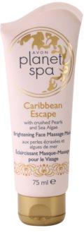 Avon Planet Spa Caribbean Escape rozjasňujúca pleťová masážna maska s výťažkami z perál a morských rias