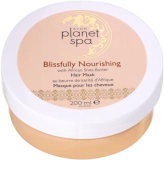 Avon Planet Spa African Shea Butter maska pro všechny typy vlasů