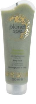 Avon Planet Spa Heavenly Hydration hydratačný telový peeling s olivovým olejom