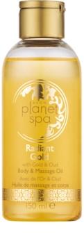 Avon Planet Spa Radiant Gold ulei de corp și pentru masaj, iluminator cu sclipici