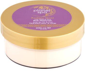 Avon Planet Spa Radiant Gold tělový krém pro rozjasnění a hydrataci