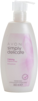 Avon Simply Delicate pomirjajoči kremasti neparfumirani gel za intimno higieno