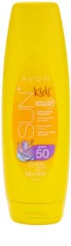 Avon Sun Kids vysoce voděodolné oranžové mléko na opalování SPF50