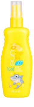 Avon Sun Kids vodeodolný tyrkysový sprej na opaľovanie SPF 30