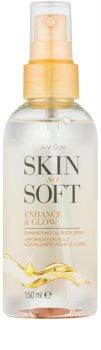 Avon Skin So Soft huile pailletée corps