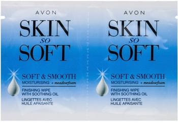 Avon Skin So Soft Smooth bandas de cera depilatoria para el rostro