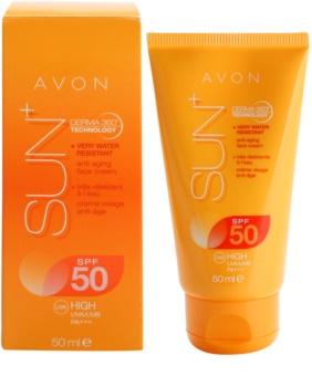 Avon Sun crema facial bronceadora rejuvenecedora resistente al agua  SPF 50