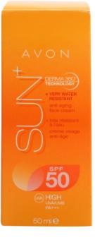 Avon Sun ανανεωτική αδιάβροχη κρέμα μαυρίσματος για πρόσωπο SPF 50