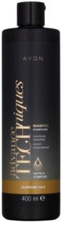Avon Advance Techniques Supreme Oils shampoing nourrissant intense aux huiles luxueuses pour tous types de cheveux