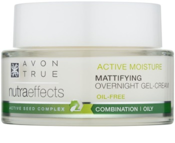 Avon True NutraEffects gel creme matificante de noite sem óleos