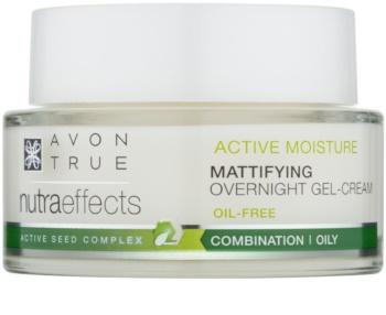 Avon True NutraEffects matující noční gelový krém s nemastným složením