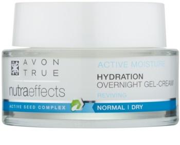 Avon True NutraEffects noćna gel krema za hidrataciju i zaglađivanje lica