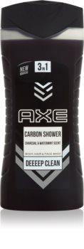 Axe Carbon gel de duche 3 em 1