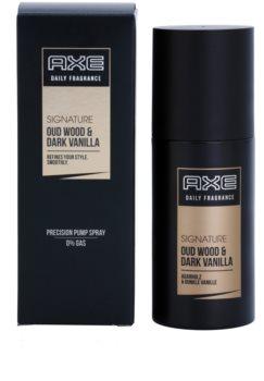 Axe Signature Oud Wood and Dark Vanilla tělový sprej pro muže 100 ml