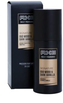 Axe Signature Oud Wood and Dark Vanilla spray corporel pour homme 100 ml