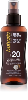 Babaria Sun Protective ulei spray pentru bronzare SPF 20