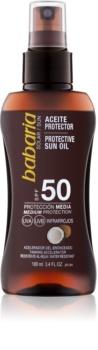 Babaria Sun Protective αντηλιακό λάδι σε σπρέι SPF 50