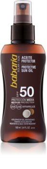 Babaria Sun Protective olej v spreji na opaľovanie SPF 50