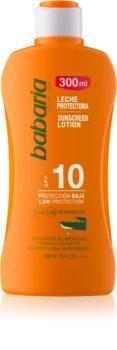 Babaria Sun Protective lapte de corp pentru soare rezistent la apa SPF 10