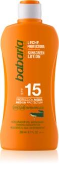 Babaria Sun Protective lapte de corp pentru soare rezistent la apa SPF 15