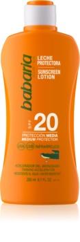 Babaria Sun Protective lapte de corp pentru soare rezistent la apa SPF 20