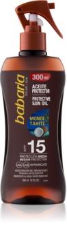 Babaria Sun Protective huile solaire en spray SPF 15