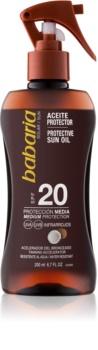Babaria Sun Protective λάδι μαυρίσματος SPF 20