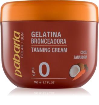 Babaria Sun Bronceadora gel pro podporu opálení s kokosem a karotkou
