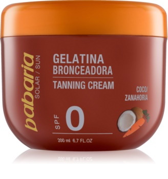 Babaria Sun Bronceadora gel za podporo porjavelosti s kokosom in korenjem