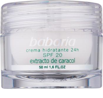 Babaria Extracto De Caracol crème hydratante à l'extrait de bave d'escargot