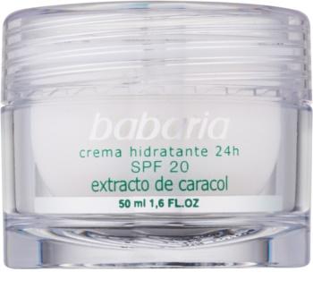 Babaria Extracto De Caracol Feuchtigkeitscreme mit Snail Extract