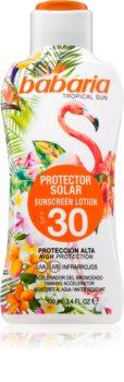 Babaria Tropical Sun προστατευτική αντηλιακή λοσιόν SPF 30