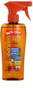 Babaria Sun Aceite Solar ξηρό αντηλιακό λάδι SPF 15