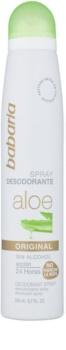 Babaria Aloe Vera déodorant en spray à l'aloe vera