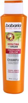 Babaria Argan sampon pentru protectia culorii cu keratina si argan