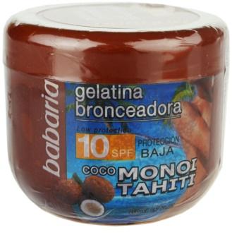 Babaria Sun Bronceadora gel colorante com coco SPF 10