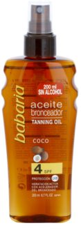 Babaria Sun Bronceadora Sun Oil SPF 4