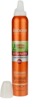 Babaria Ginseng mousse cheveux fixation extra forte