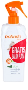 Babaria Sun Infantil spray bronzeador para crianças  SPF 50
