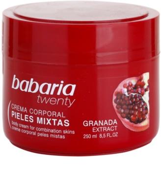 Babaria Twenty Körpercreme mit Granatapfel