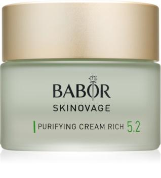 Babor Skinovage Purifying nährende Hautcreme für unreine Haut