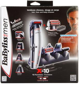 BaByliss For Men X - 10 машинка  для стрижки  волосся та вусів