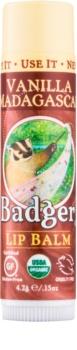 Badger Classic Vanilla Madagascar balzam za ustnice