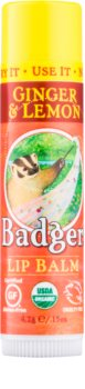 Badger Classic Ginger & Lemon ajakbalzsam