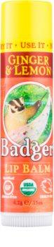 Badger Classic Ginger & Lemon balzam za ustnice