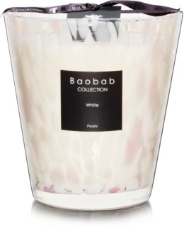 Baobab White Pearls candela profumata 16 cm