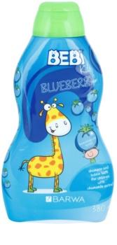 Barwa Bebi Kids Blueberry Shampoo und Badeschaum 2 in 1