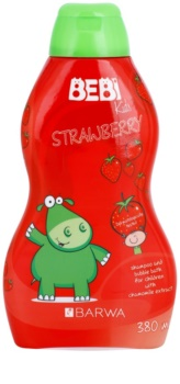 Barwa Bebi Kids Strawberry Shampoo und Badeschaum 2 in 1